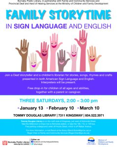 Family Storytime in Sign Language and English @ BPL