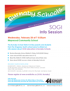 SOGI Information Session  @ Maywood Feb 28