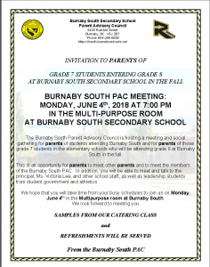 Burnaby South Parent Advisory Council