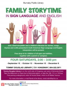 ASL Family Storytimes @BPL | South Slope Elementary & BC School for