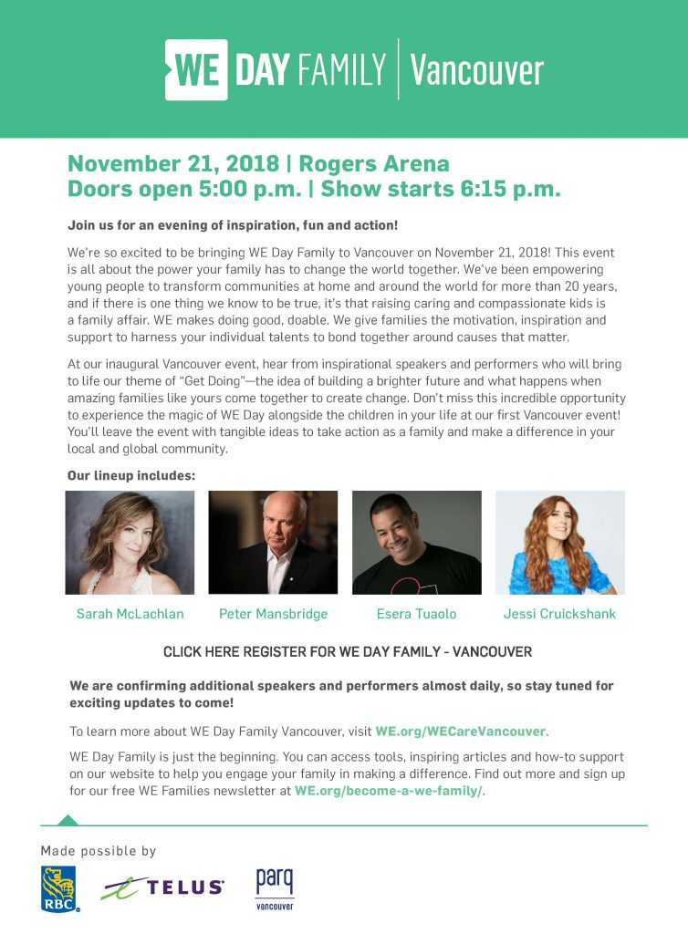 WE Day Family Event