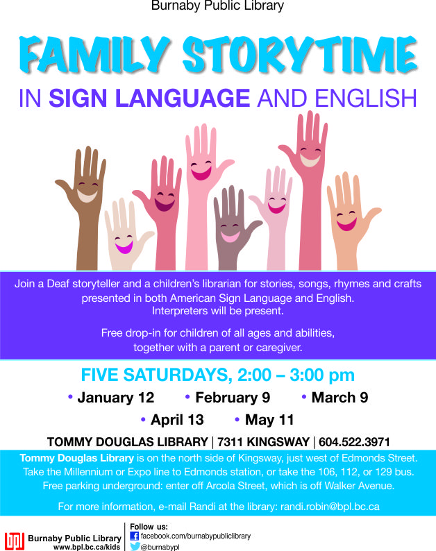 Family Storytime in ASL & English @BPL