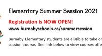 Elementary Summer Session 2021 Brochure